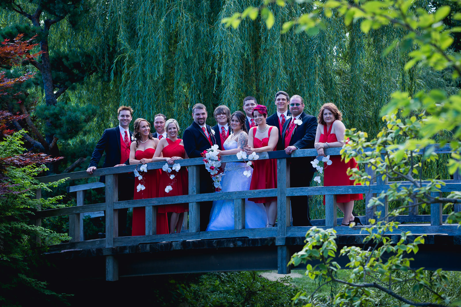 Wedding Photography at Anderson Japanese Gardens in Rockford, IL