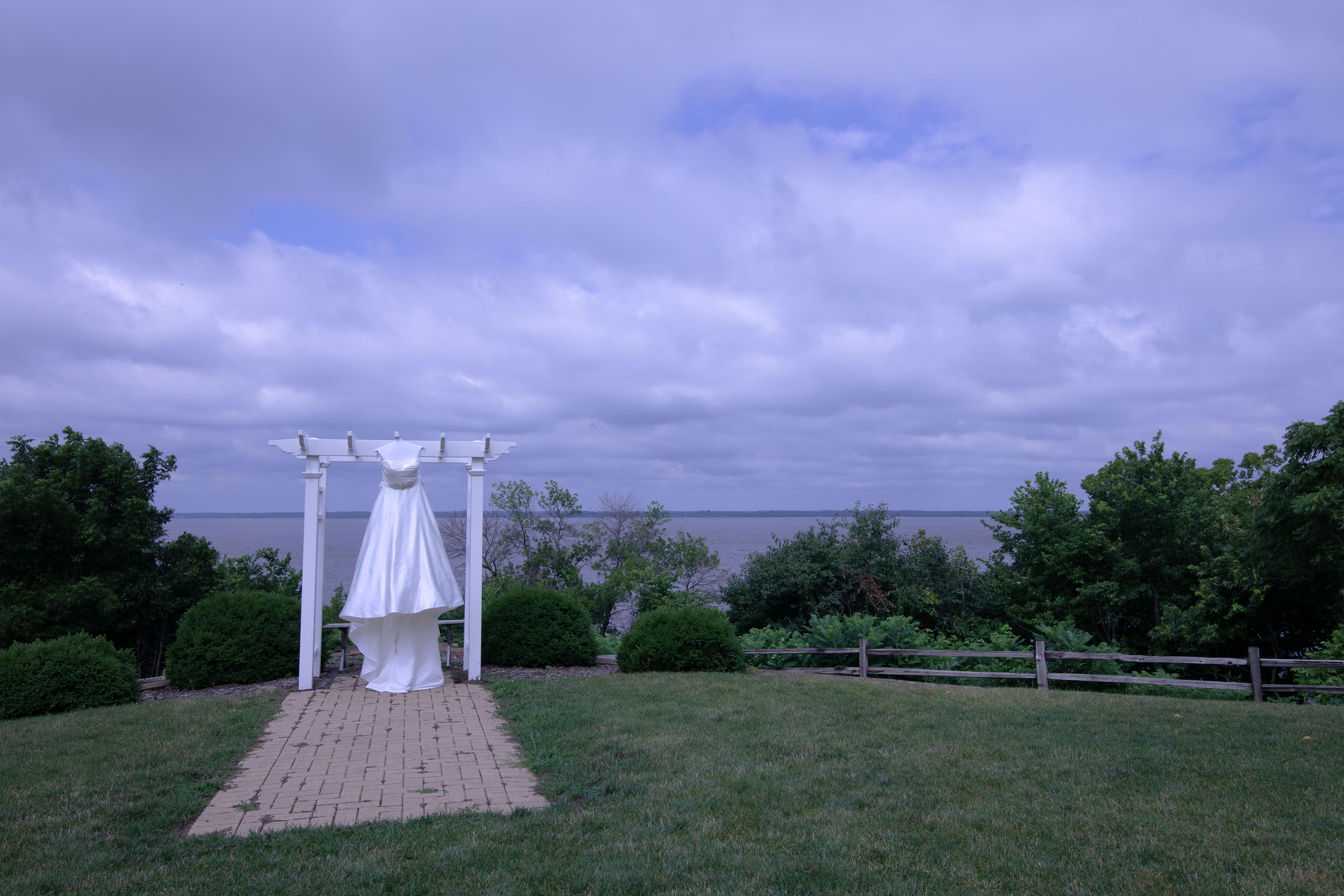 Wedding dress at Koshkonong Mounds Country Club